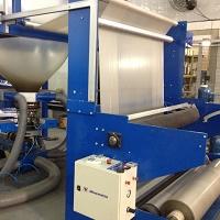 Máquina extrusora de filme tubular