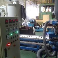 Máquina extrusora de plástico